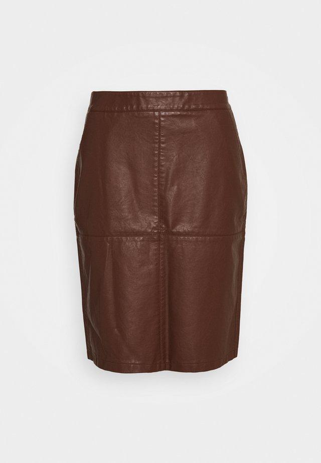 GUNILLA  - Spódnica trapezowa - brown