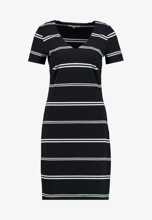 DENA STRIPE - Jersey dress - navy combi