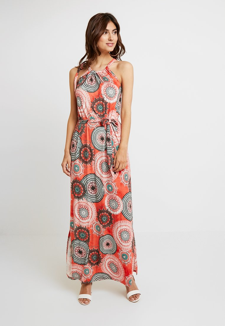 Soyaconcept - MARICA  - Maxi dress - coral red combi
