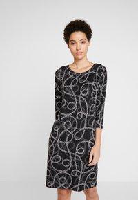 Soyaconcept - CLARISSA - Strikket kjole -  black combi - 0