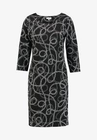 Soyaconcept - CLARISSA - Strikket kjole -  black combi - 4