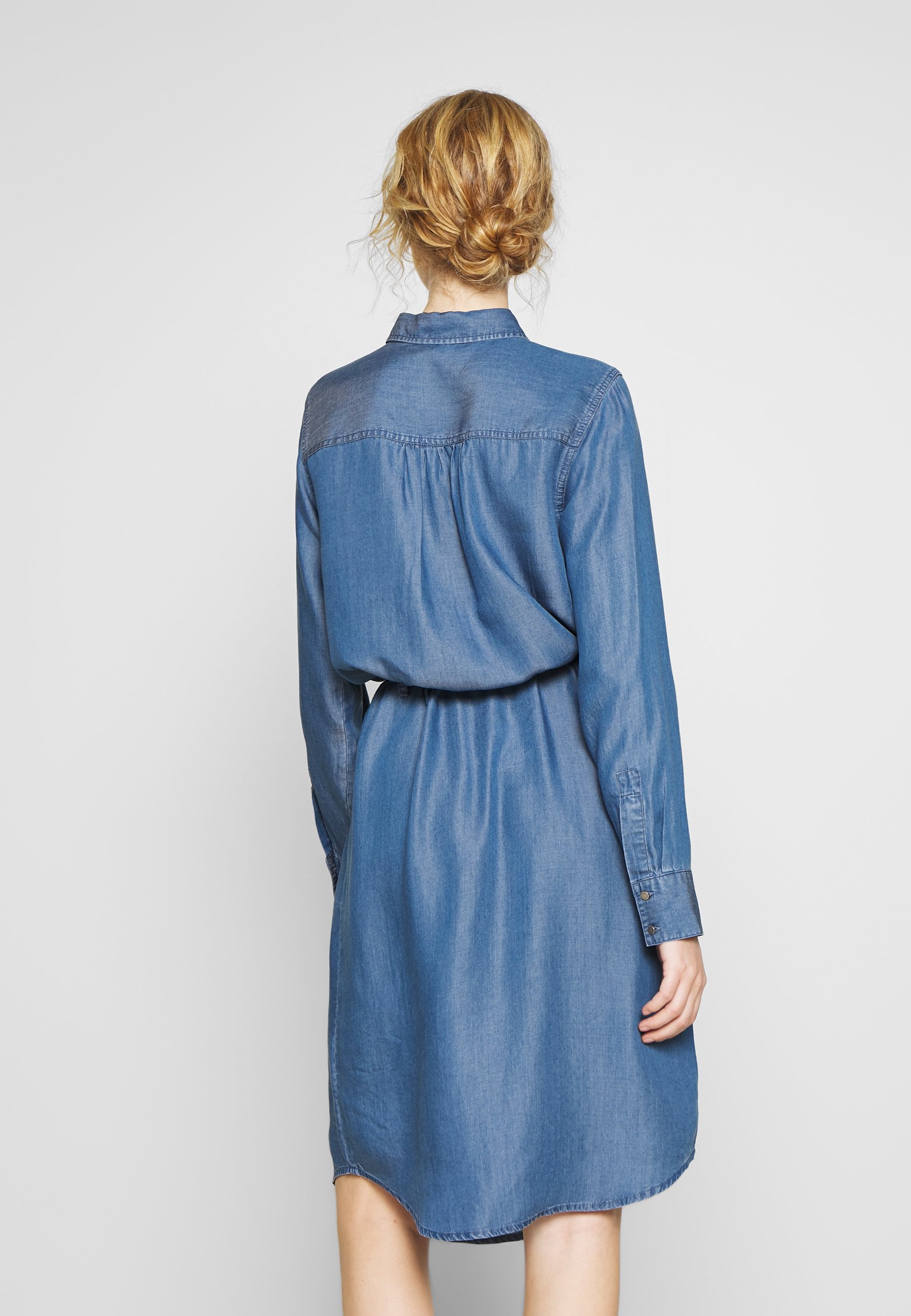 Soyaconcept Liv - Skjortklänning Medium Blue