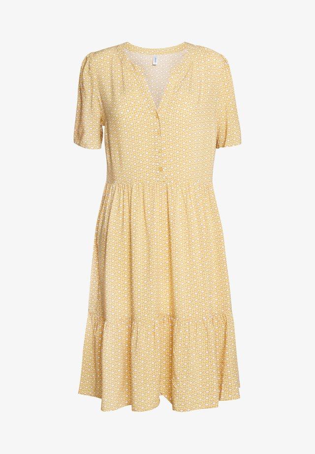 Blusenkleid -  yellow combi