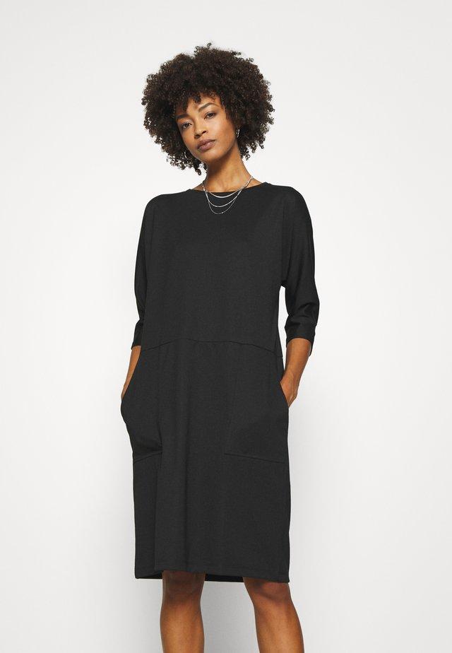 SC-DENA SOLID 131 - Sukienka z dżerseju - black