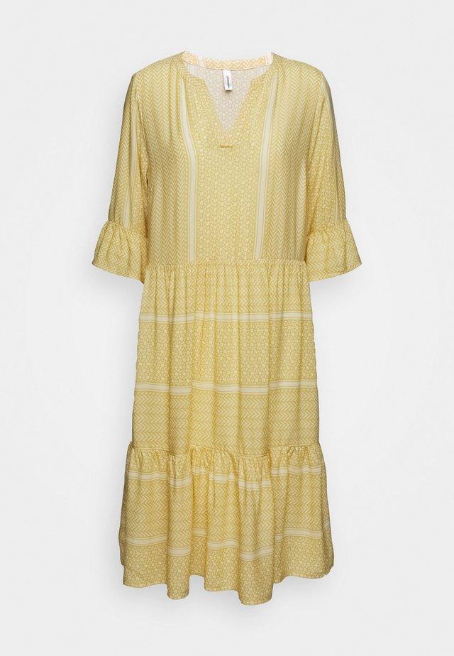 ITALY - Sukienka letnia - yellow combi