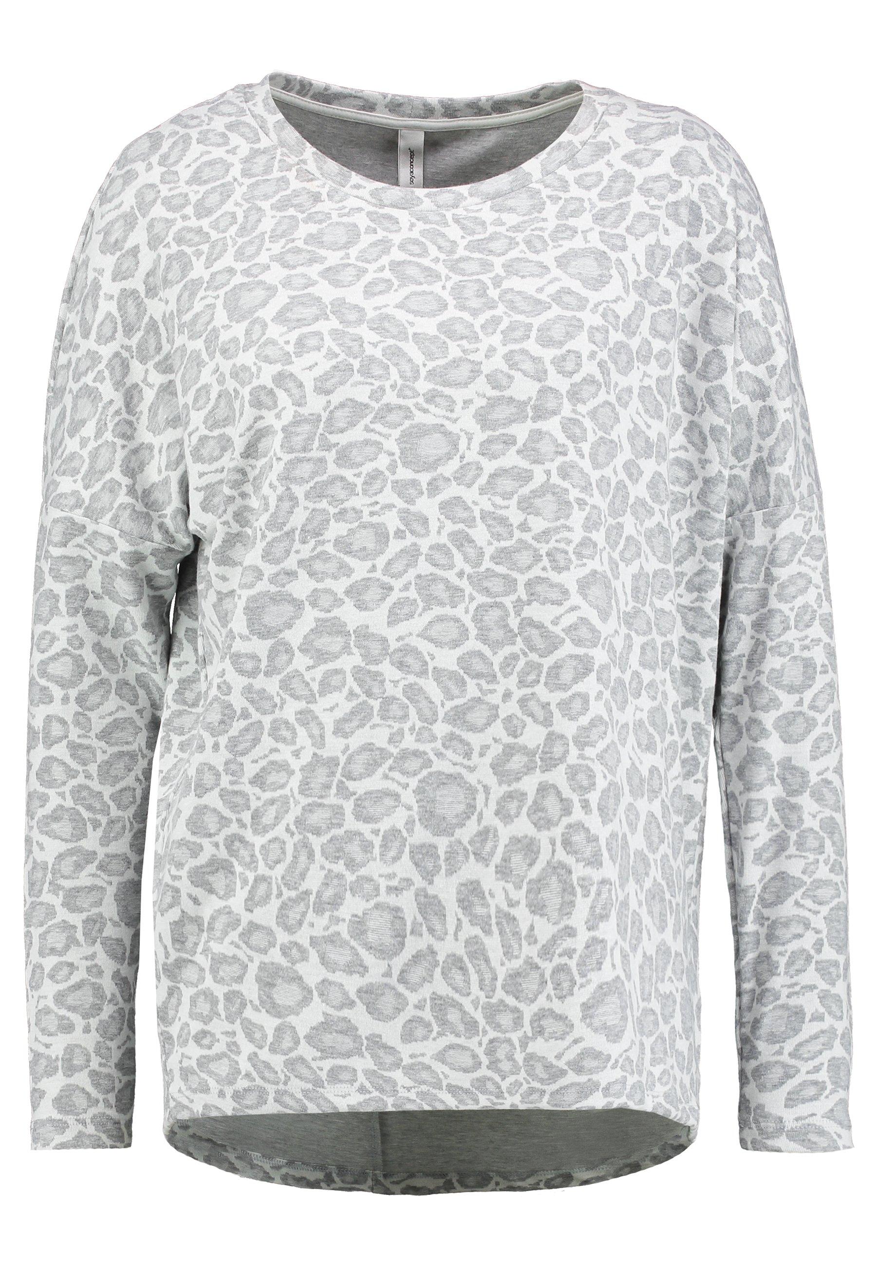 Soyaconcept Enola - Long Sleeved Top Grey Melange Combi
