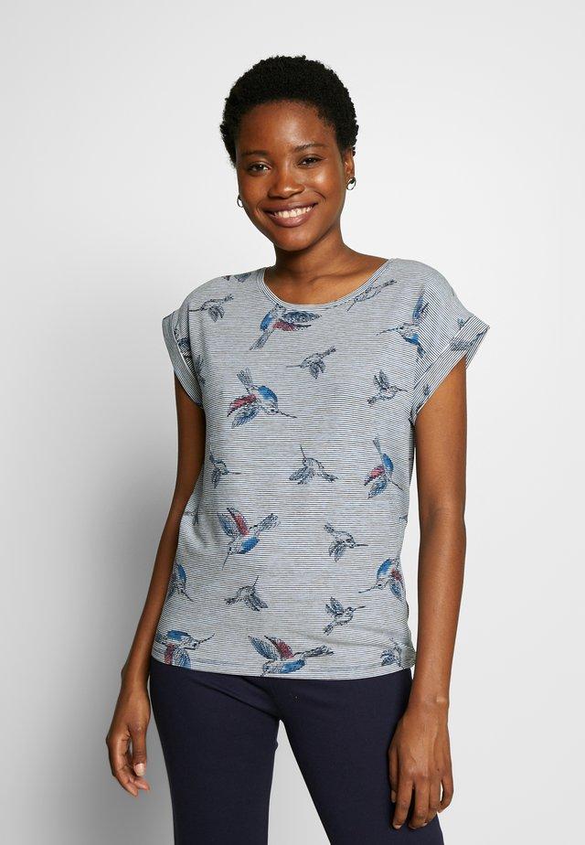 GALINA - T-shirt med print - navy combi