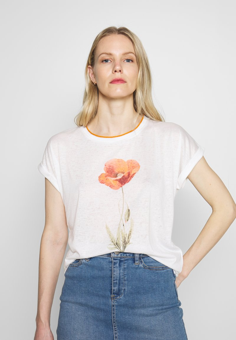 Soyaconcept - T-shirts med print - offwhite