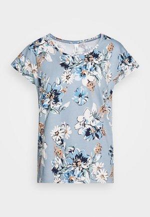 FELICITY - Print T-shirt - dusty blue combi