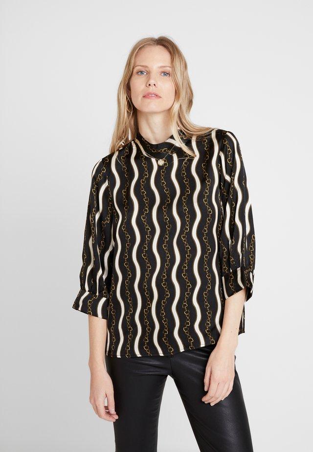 CAROL - Bluse - black combi