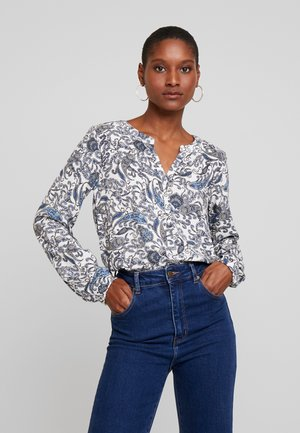 Blouse - true blue combi