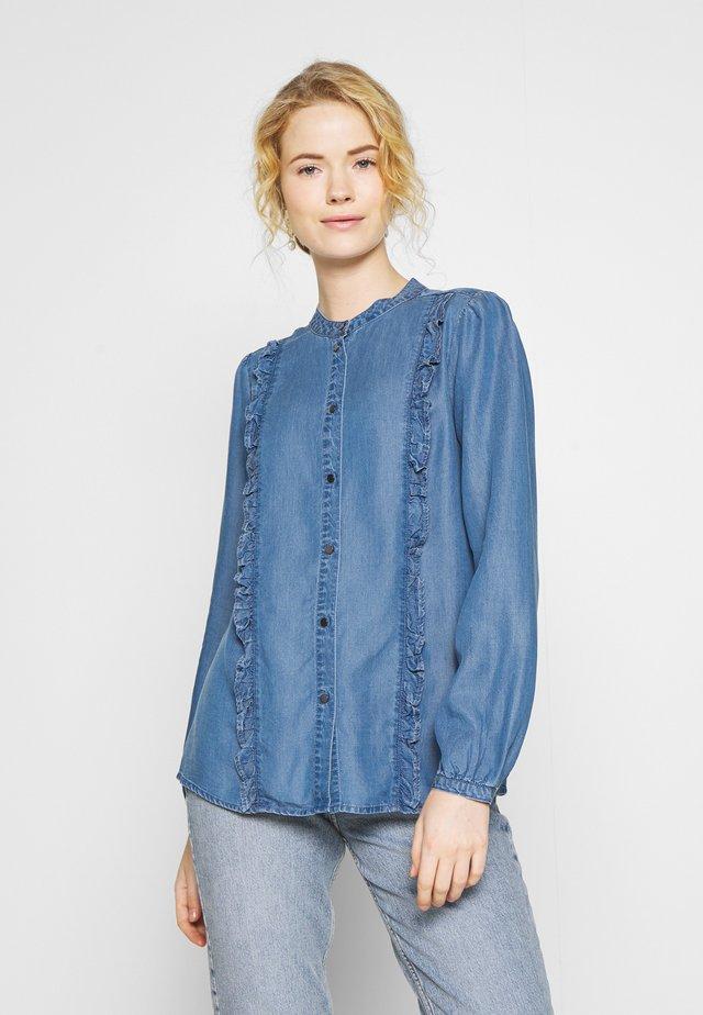 LIV - Button-down blouse - medium blue