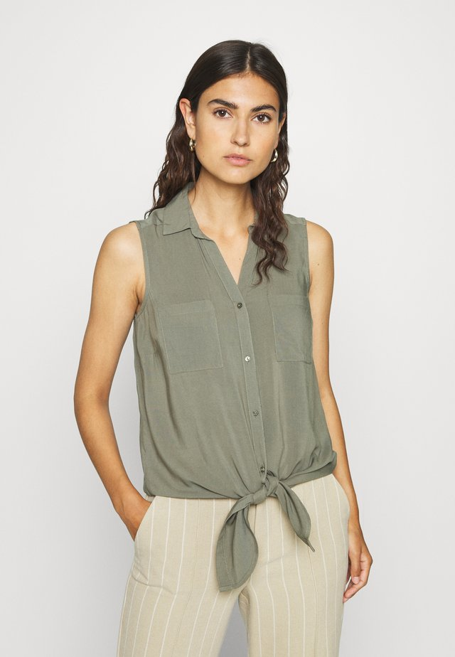 RADIA - Button-down blouse - army