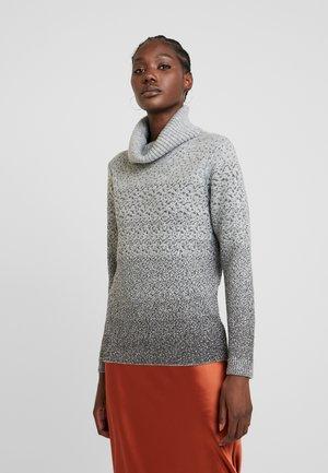 CRISTA  - Stickad tröja -  grey melange combi