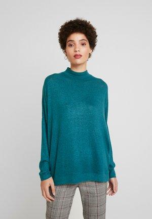 BIARA - Stickad tröja - deep green melange
