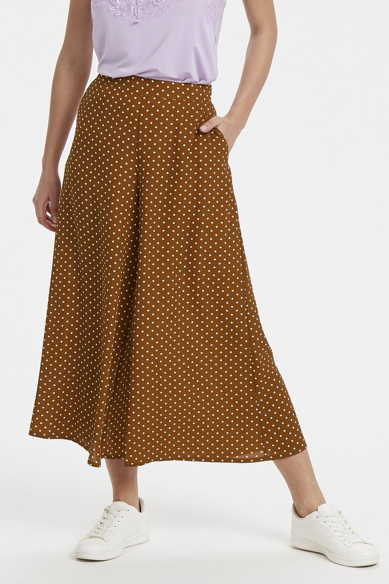 Soaked in Luxury - Stoffhose - ginger bread brown dot print