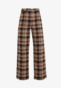 Soaked in Luxury - INDIE CHECK PANTS - Pantalones - eucalyptus check pattern - 5