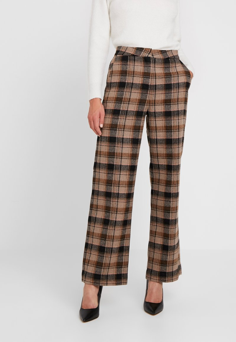 Soaked in Luxury - INDIE CHECK PANTS - Pantalones - eucalyptus check pattern