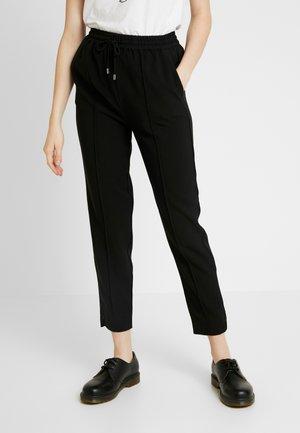 FONT PANTS - Bukse - black