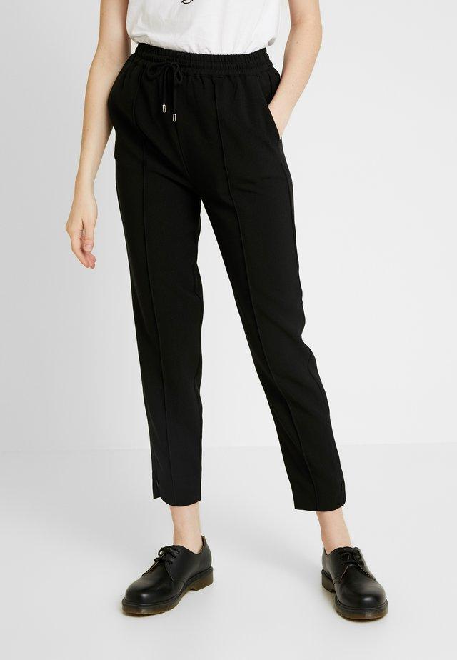 FONT PANTS - Bukser - black
