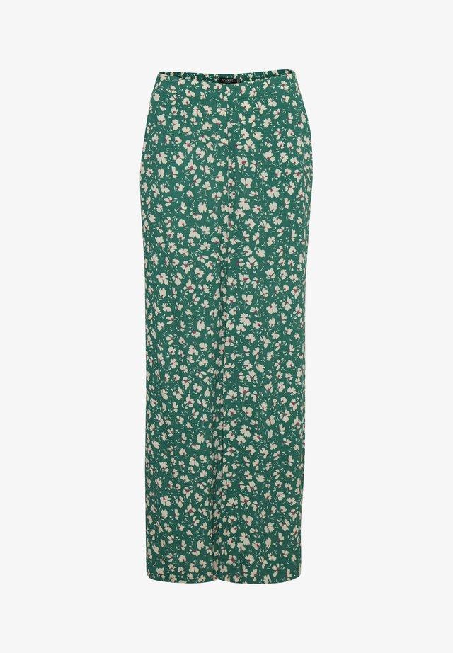 SLJACINTO PALAZZO PANTS - Bukser - pine green flower print