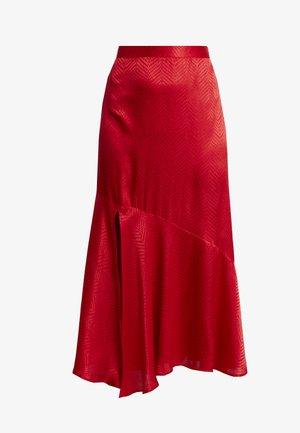 JYTTE SKIRT - Maxi sukně - barbados cherry