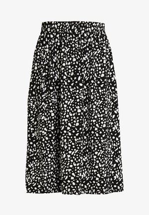 LEWEL EASTON SKIRT - Falda acampanada - black/white