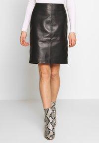 Soaked in Luxury - FOLLY SKIRT - Pencil skirt - black - 0