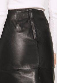 Soaked in Luxury - FOLLY SKIRT - Pencil skirt - black - 4