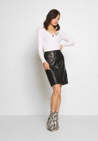 Soaked in Luxury - FOLLY SKIRT - Pencil skirt - black - 1