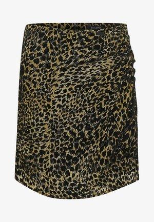 SLASTRED  - Wrap skirt - black