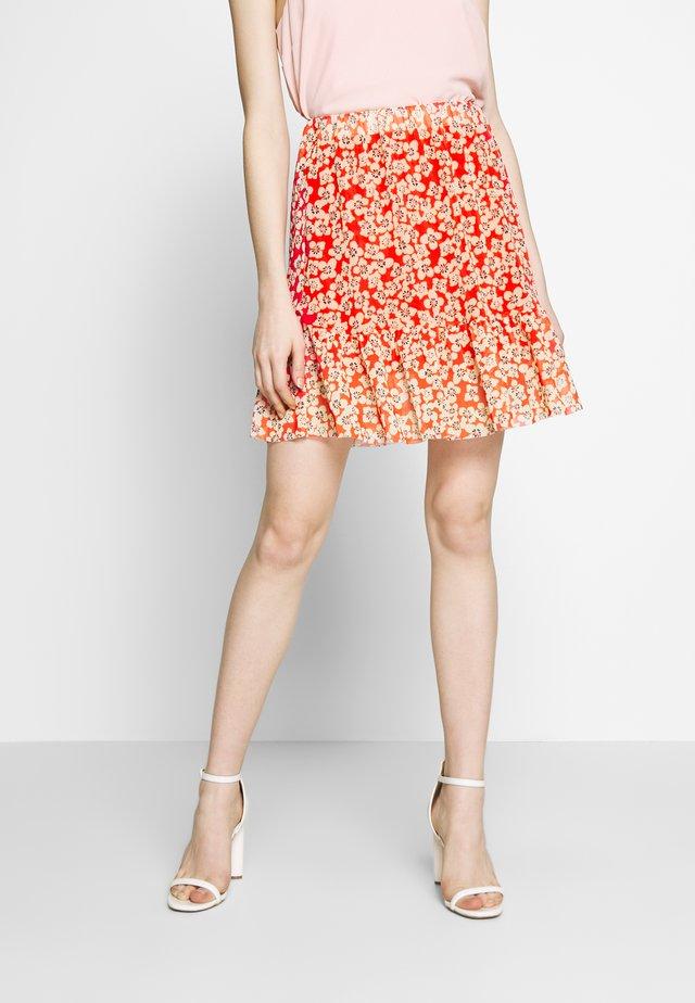 SLALDORA SKIRT - A-snit nederdel/ A-formede nederdele - tangerine tango