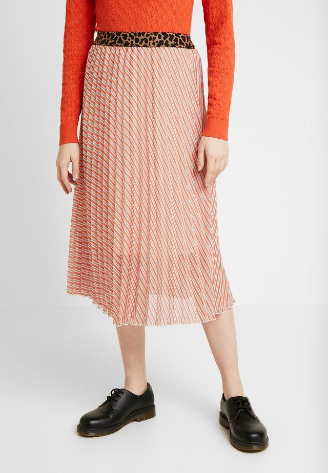 SLAMILY SKIRT - A-snit nederdel/ A-formede nederdele - burnt ochre stripes