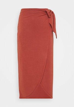 SLCOLUNI SKIRT - Falda de tubo - barn red