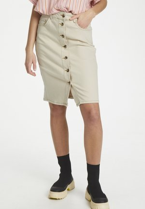 SLSHANI SKIRT - Falda de tubo - antique white