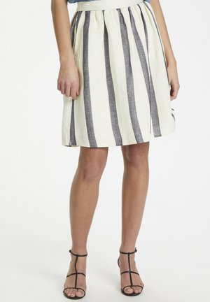SOAKED IN LUXURY SLOLEANNA SKIRT - A-line skirt - antique white with blue stripe
