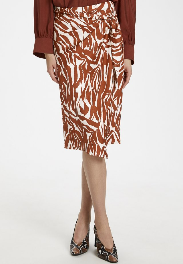 SLNIKAIA  - A-snit nederdel/ A-formede nederdele - zebra strokes red