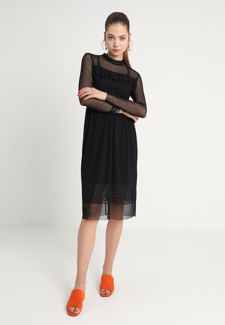 Black In D'été Luxury Allen Soaked Dress SolidRobe rtxdsCBohQ