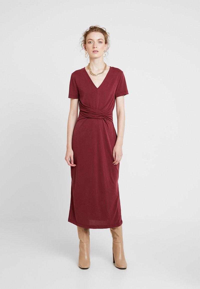 Soaked in Luxury - SEPIA DRESS - Vestido largo - zinfandel