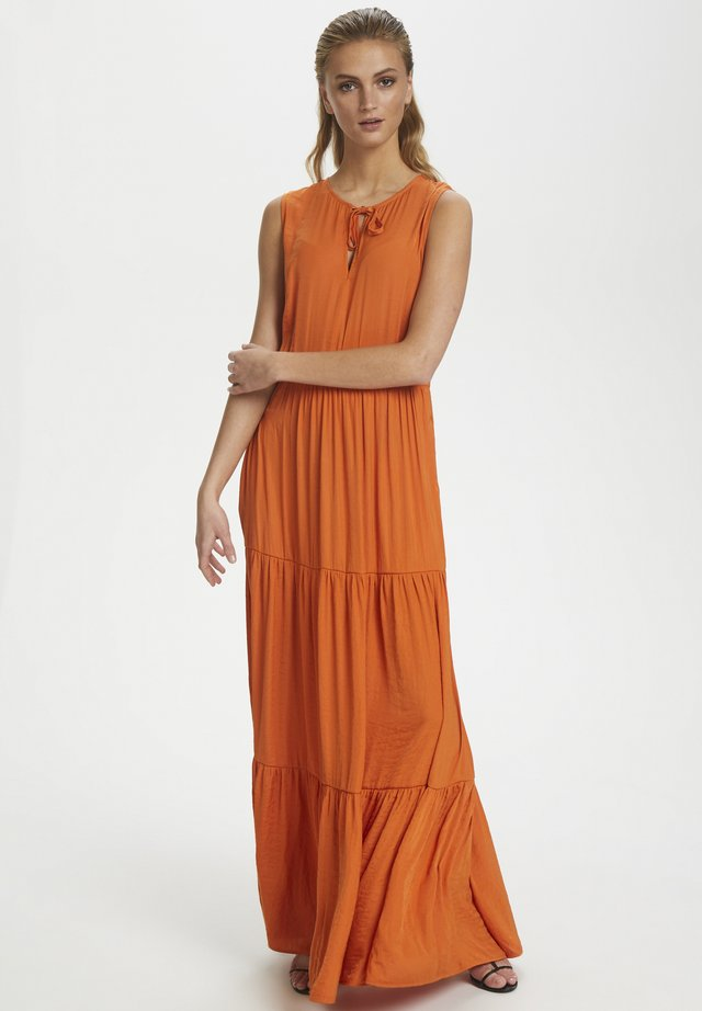 SLKELLAN MAXI DRESS - Maxi-jurk - burnt orange