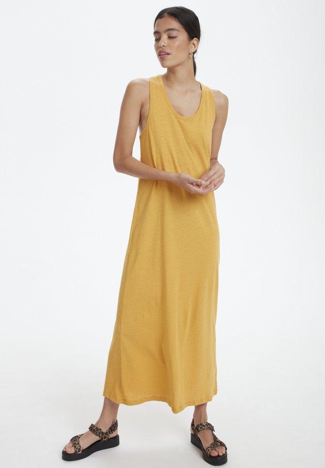 SLLINENA DRESS - Vestido largo - amber gold