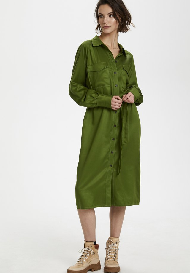SLLAMIA - Skjortklänning - garden green