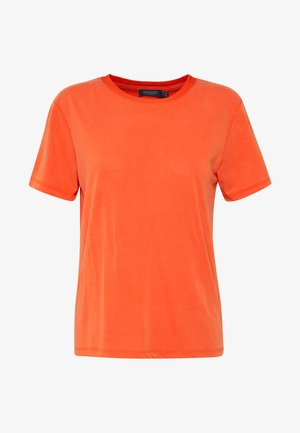 CREW NECK - T-shirt basique - tangerine tango