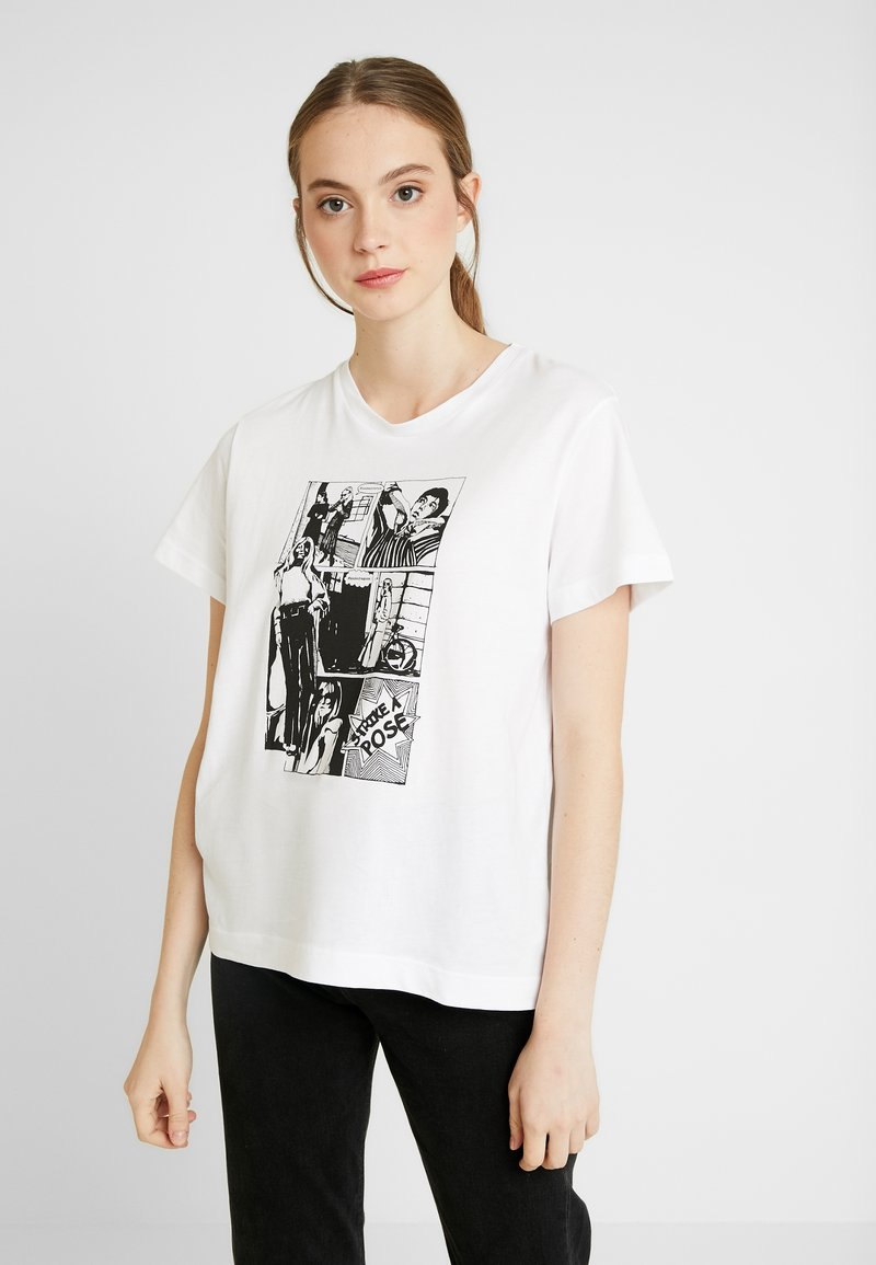 Soaked in Luxury - CORTO - Print T-shirt - broken white