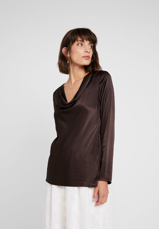 EDITA BLOUSE - Blusa - chocolate torte