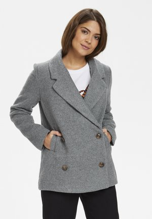 Short coat - medium grey melange