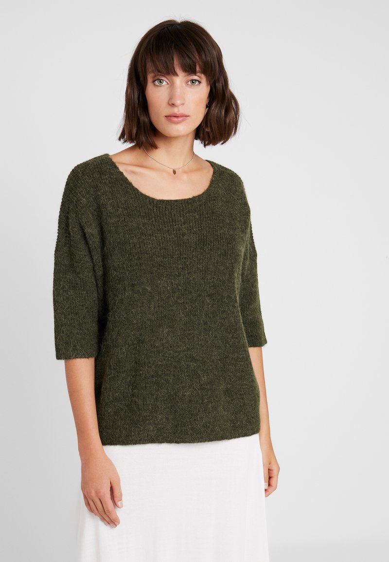 Soaked in Luxury - TUESDAY JUMPER - Strickpullover - forest night