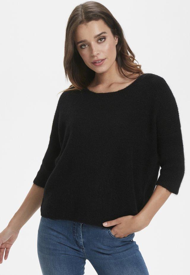 TUESDAY  - Stickad tröja - black