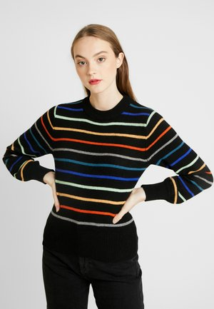 LISA STRIPED - Pullover - black