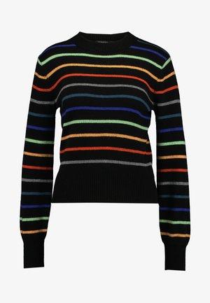 LISA STRIPED - Pullover - black